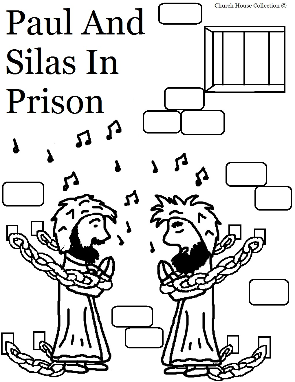 Paul And Silas Coloring Pages.