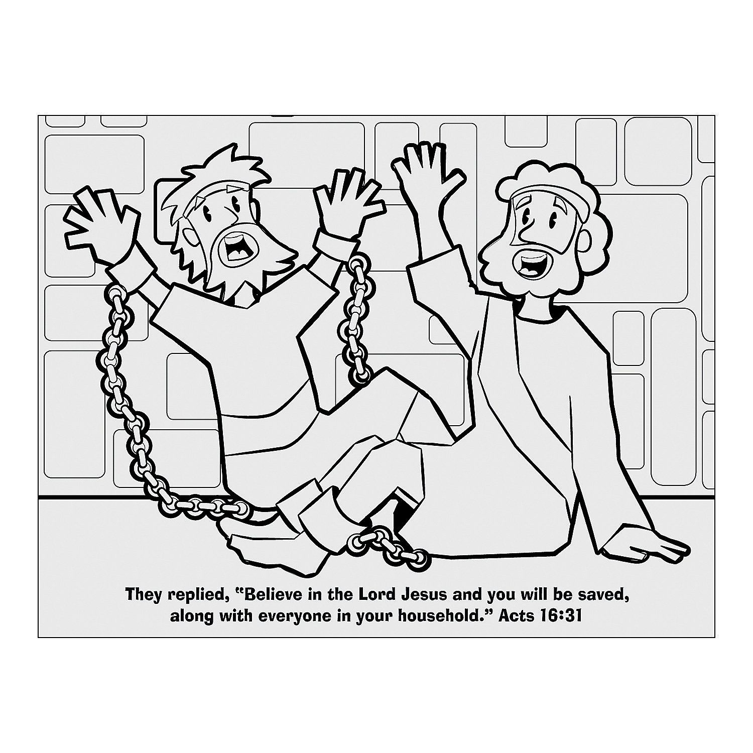 Free Paul And Silas In Jail Free Coloring Page, Download Free Clip.
