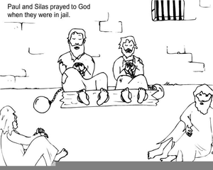 Clipart Paul And Silas In Jail.