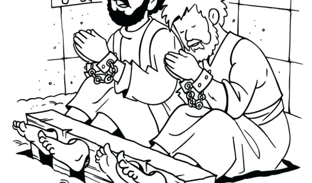 paul and silas coloring page.