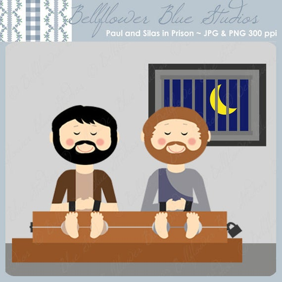 Paul and Silas in Macedonia Digital Clipart.