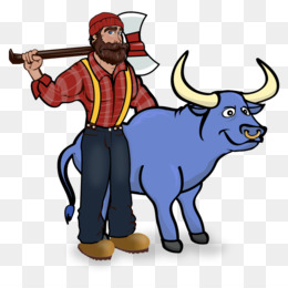Paul Bunyan And Babe The Blue Ox PNG and Paul Bunyan And.
