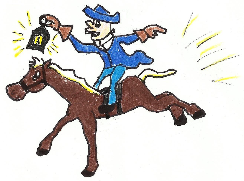 Paul Revere Midnight Ride Clipart.