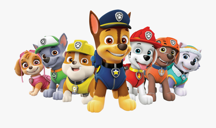 Paw Patrol All Characters Png.