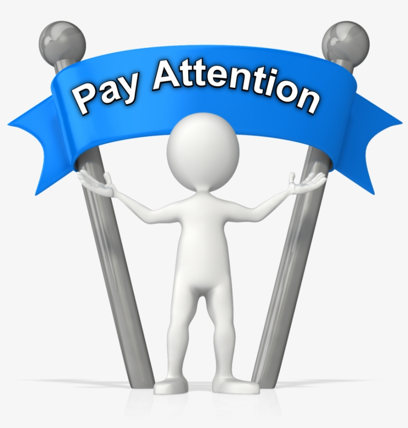 Banner Transparent Stock Attention Clipart Paying Attention.