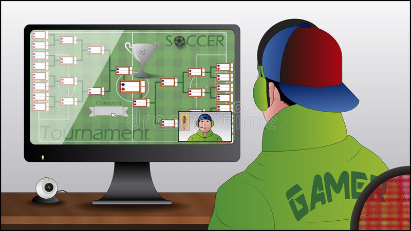 Pc Gamer Stock Illustrations.