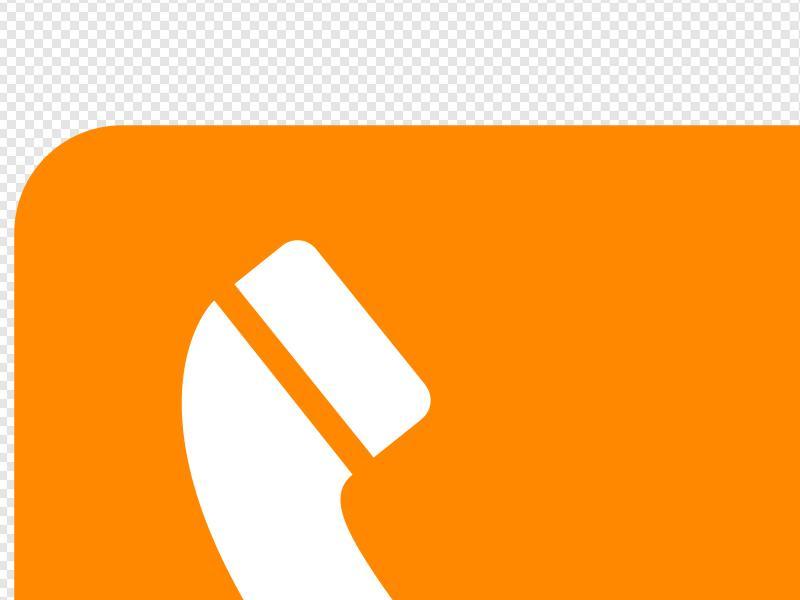 Phone Orange Clip art, Icon and SVG.