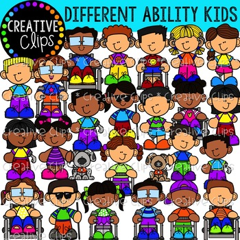 Differently Abled Kids {Creative Clips Clipart}.