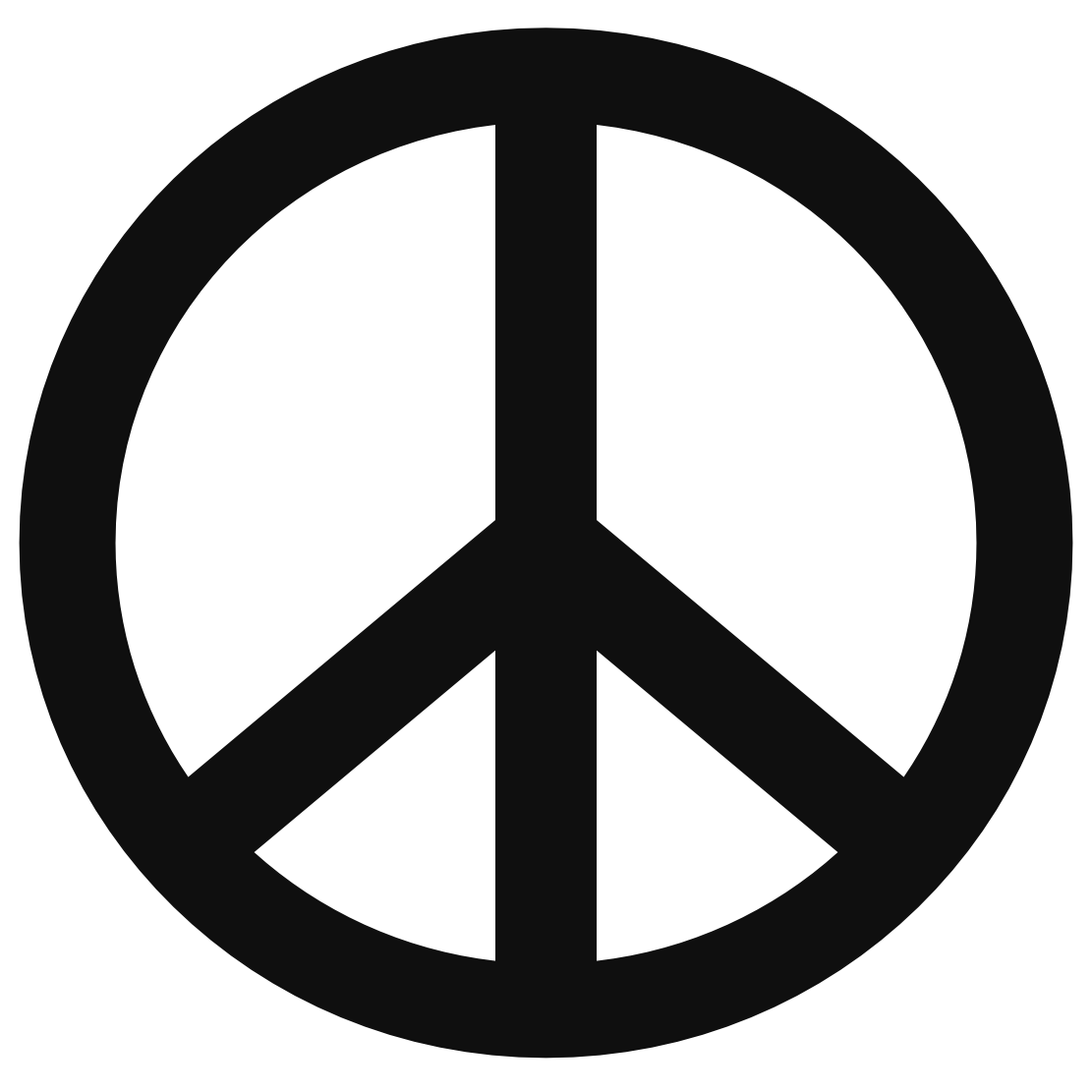 Peace sign templates clipart.
