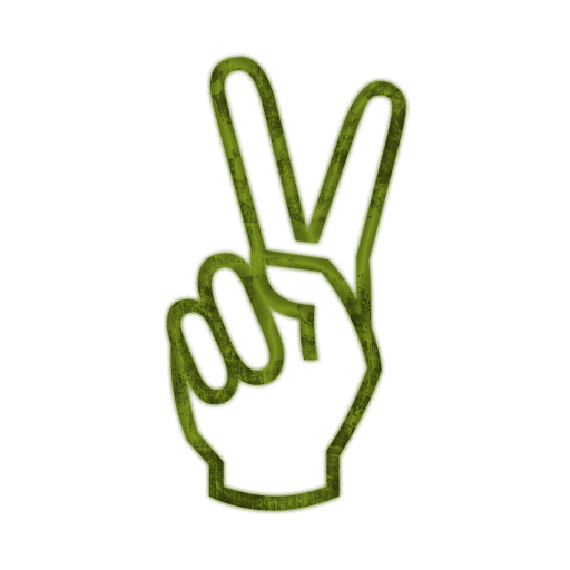 735 Peace Sign free clipart.