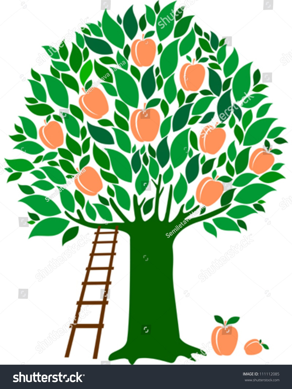 Peach tree clipart 7 » Clipart Portal.