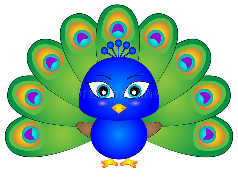 Cartoon Peacock Stock Illustrations.