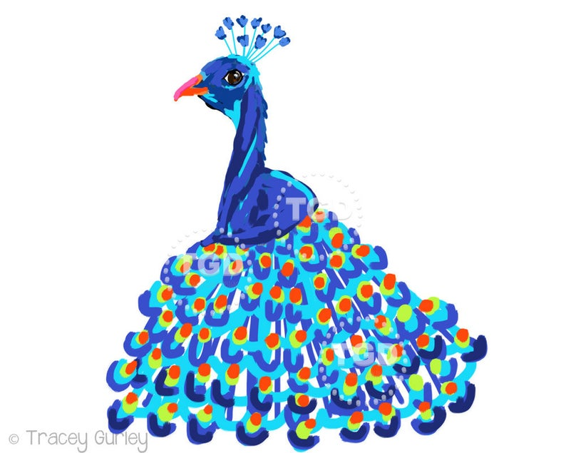 Peacock clipart, peacock art, tropical bird, peacock feathers, peacock  wedding, peacock clip art, instant download, peacock invitations.