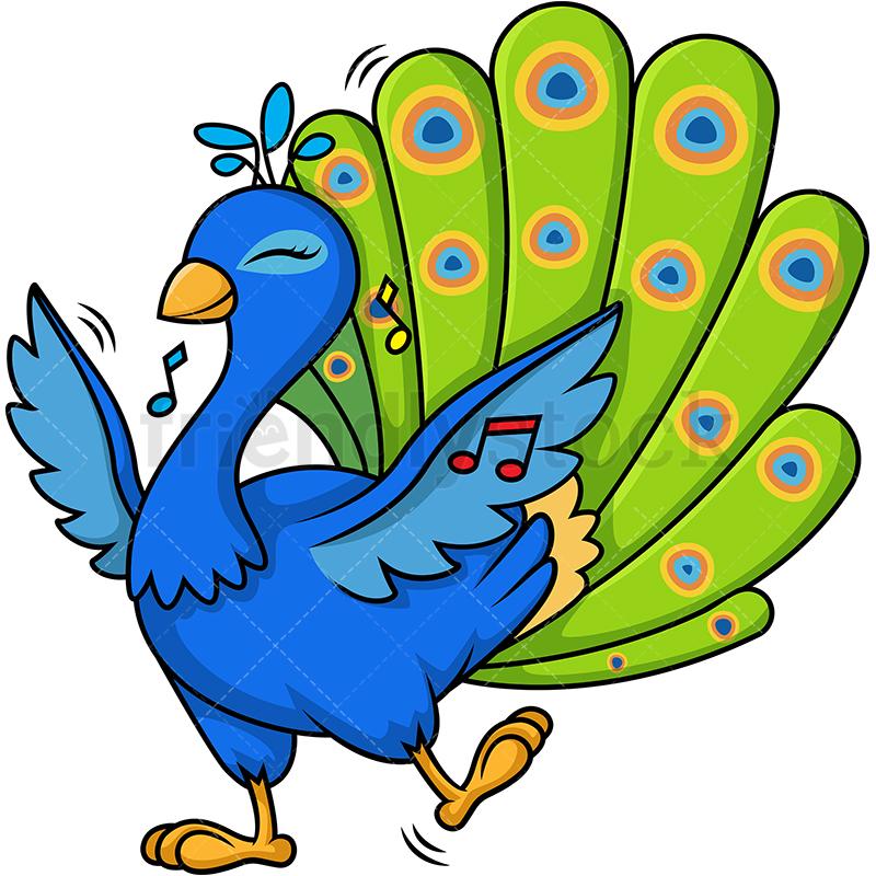 Peacock Dancing.