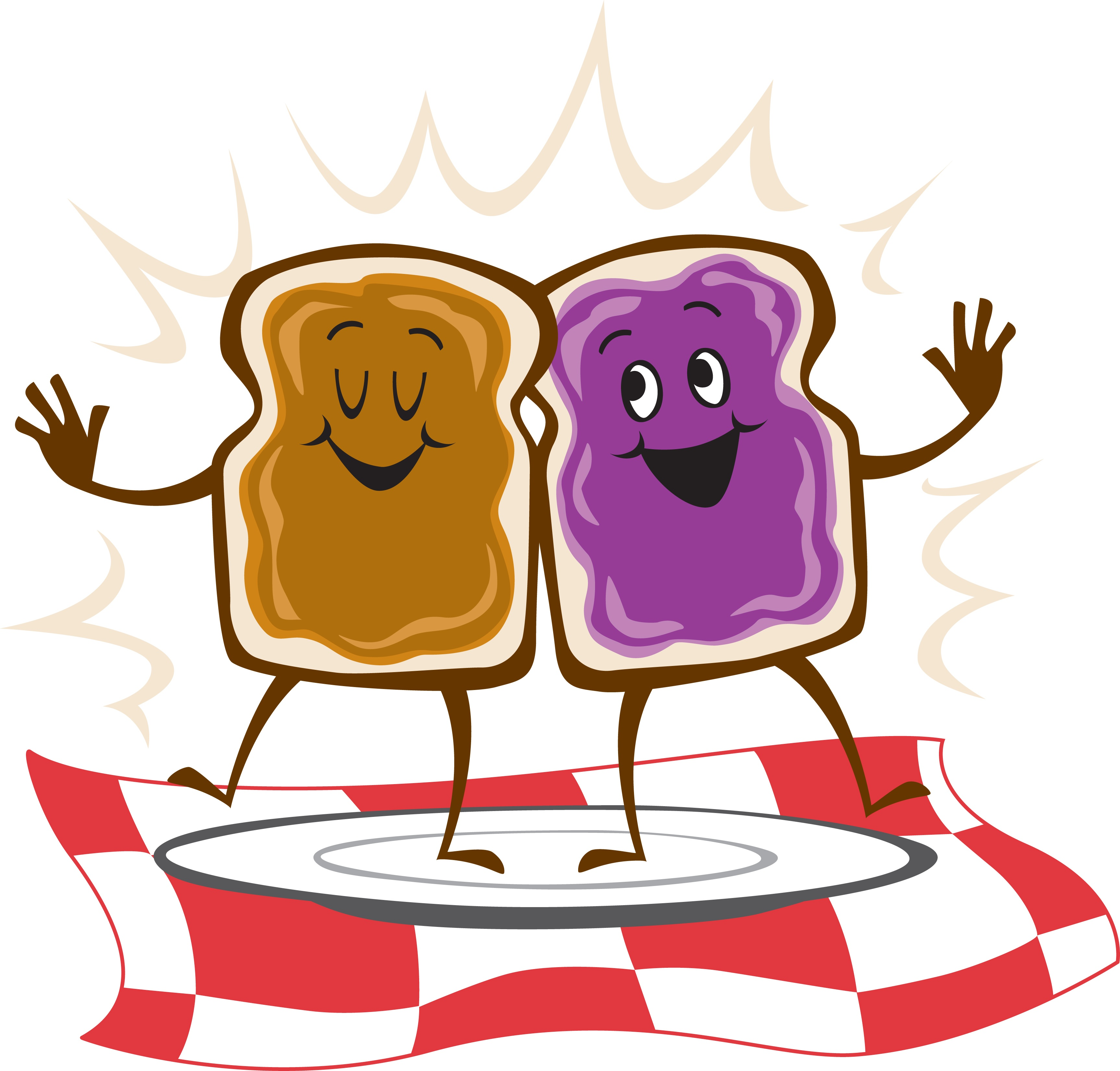 Marketing Peanut Butter Jelly Time clipart free image.