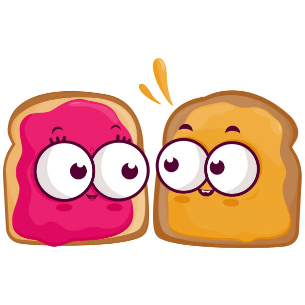 Best Peanut Butter And Jelly Sandwich Illustrations, Royalty.