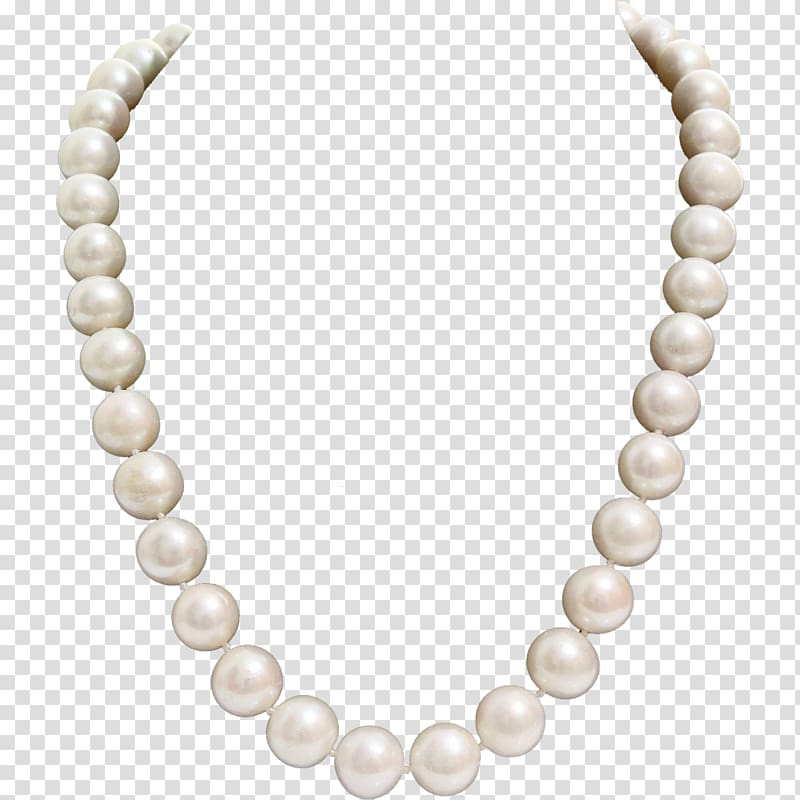 Beaded white pearl necklace, Earring Necklace Pearl Collar.