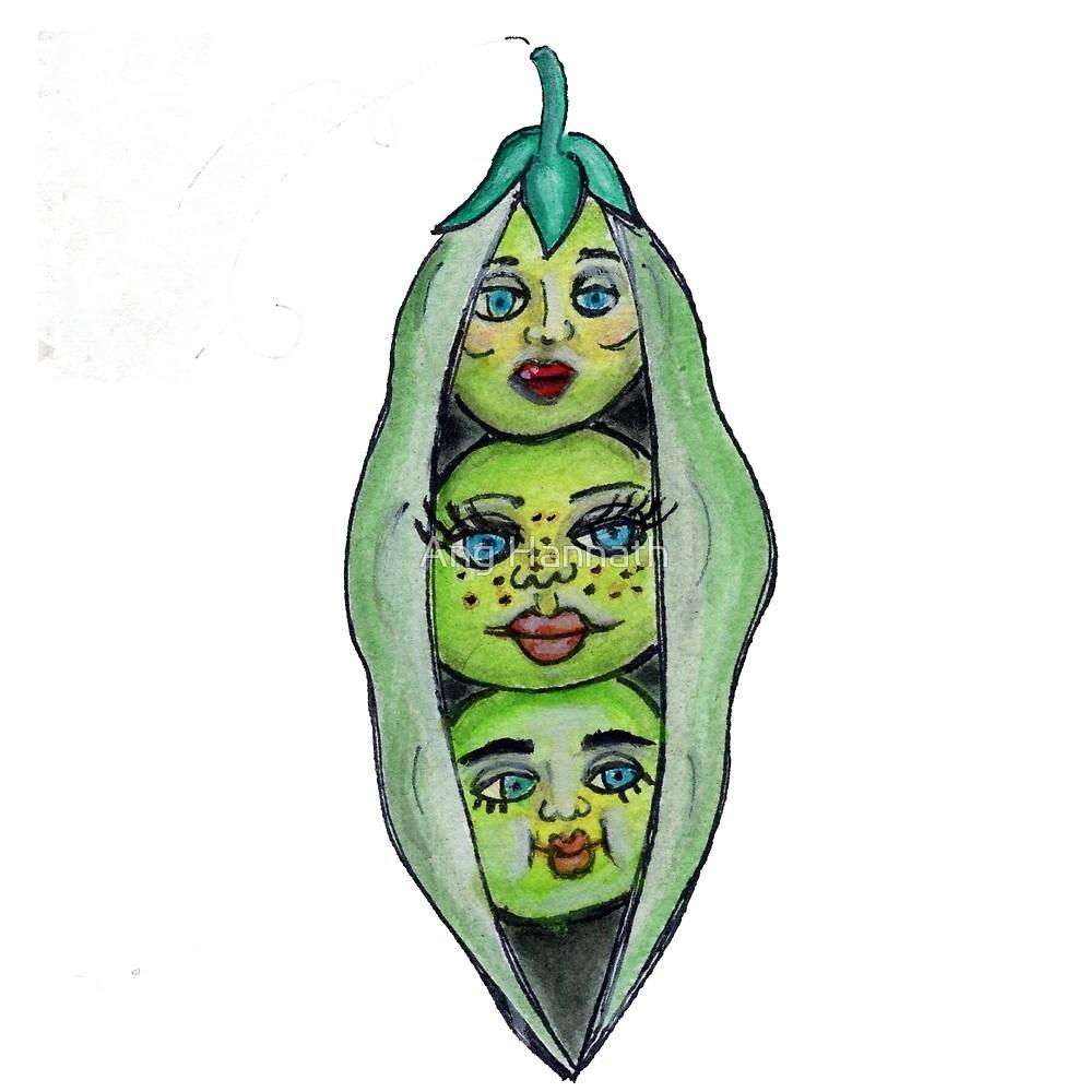 Pea Pod Drawing.