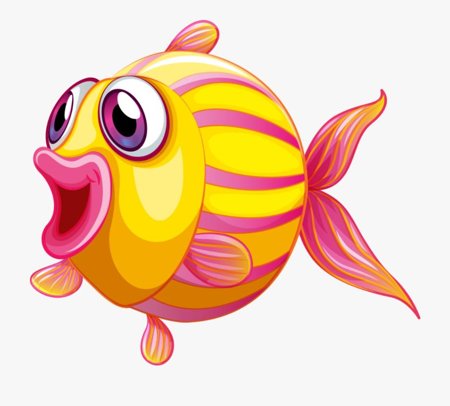 mq #yellow #fish #happy #cartoon.