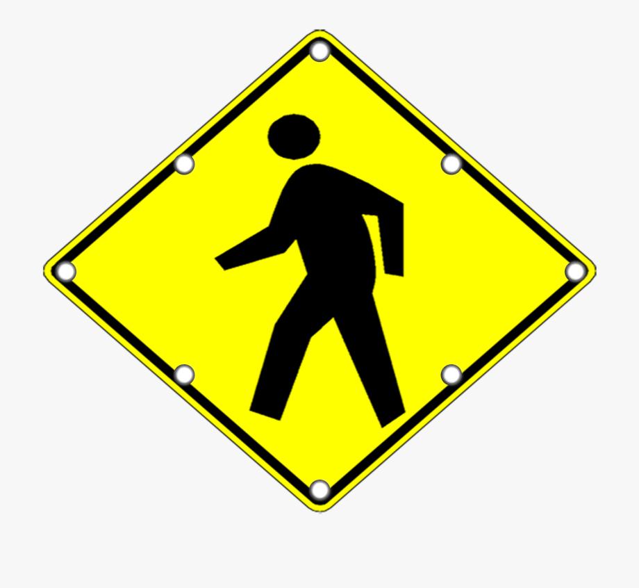 Pedestrian Lane Sign , Transparent Cartoon, Free Cliparts.