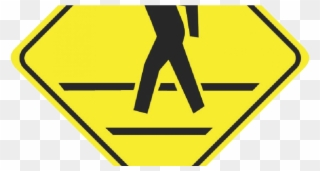 Pedestrian Crosswalk Sign Clipart (#4916318).