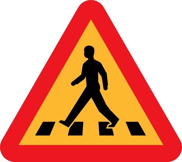 Pedestrian Crossing Sign clip art Free vector in Open office.