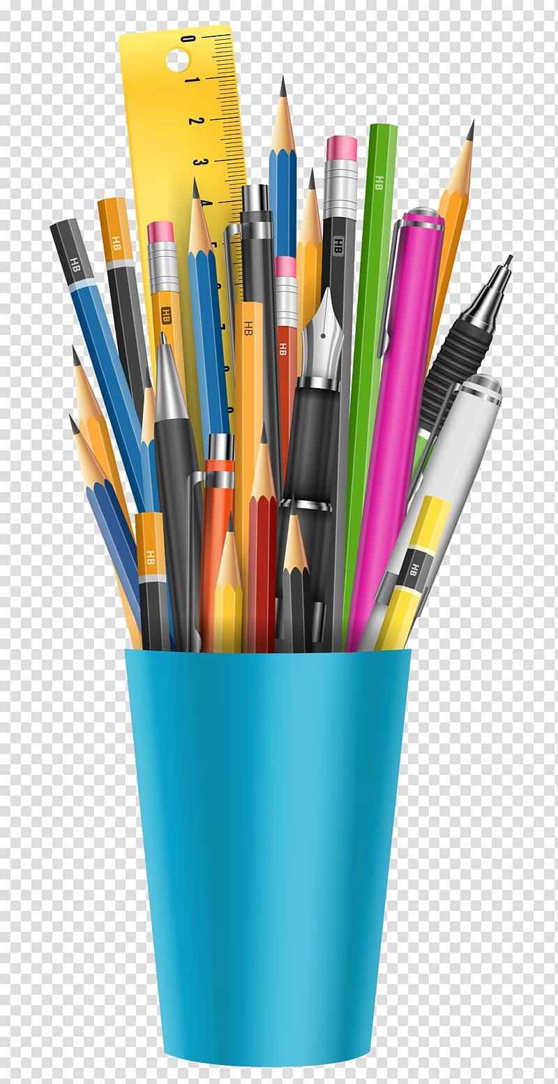 Pen & Pencil Cases Glass Marker pen, pencil transparent.