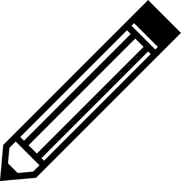 Pencil outline Icons.