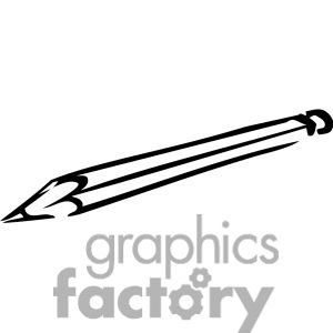 pencil clipart black and white.