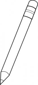 Pencil Outline BW Clip Art Download.
