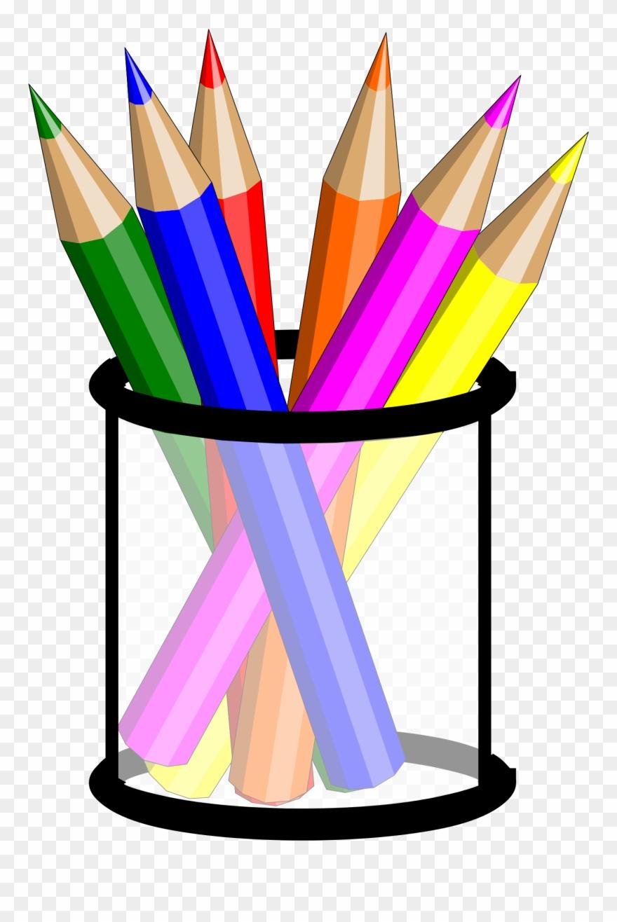 Pencil Cup Clip Art.