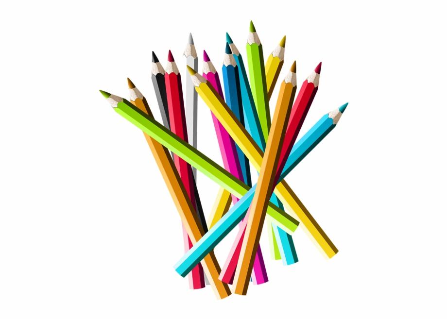Pencil Png, School Clipart, Colored Pencils, Art Party.