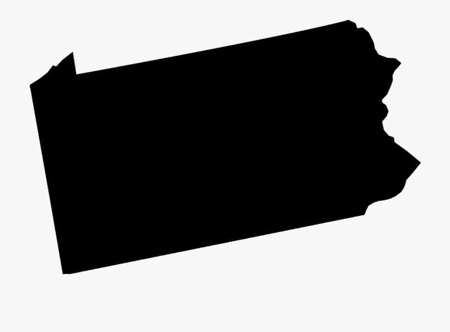 Clipart Pennsylvania State Outline , Transparent Cartoon.