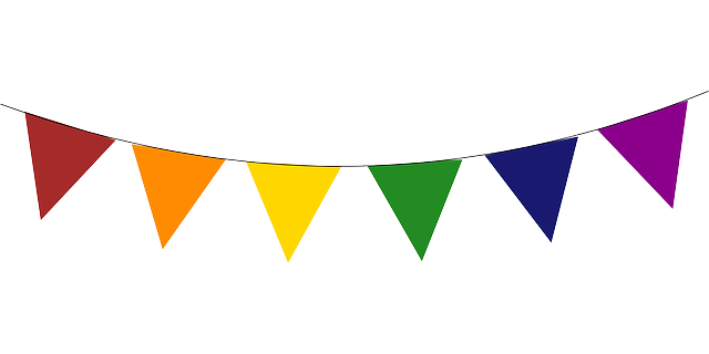 268 Pennant Banner free clipart.