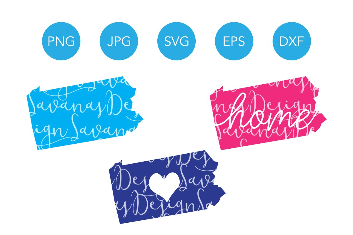 Pennsylvania SVG Cut Files Clipart.