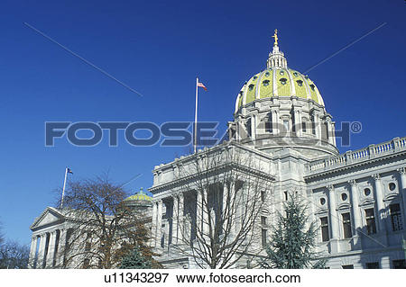 Picture of State Capitol, State House, Harrisburg, PA.