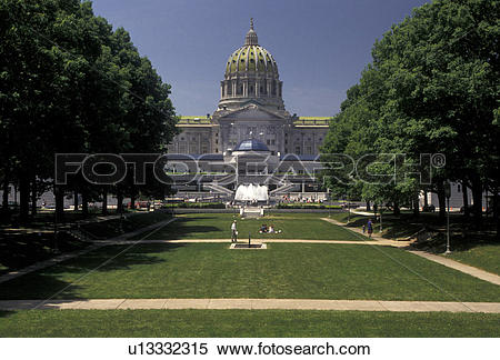 Stock Image of Harrisburg, State Capitol, State House.