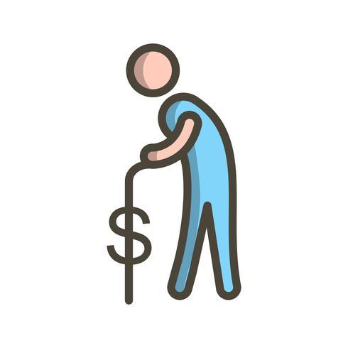 Pension Vector Icon.