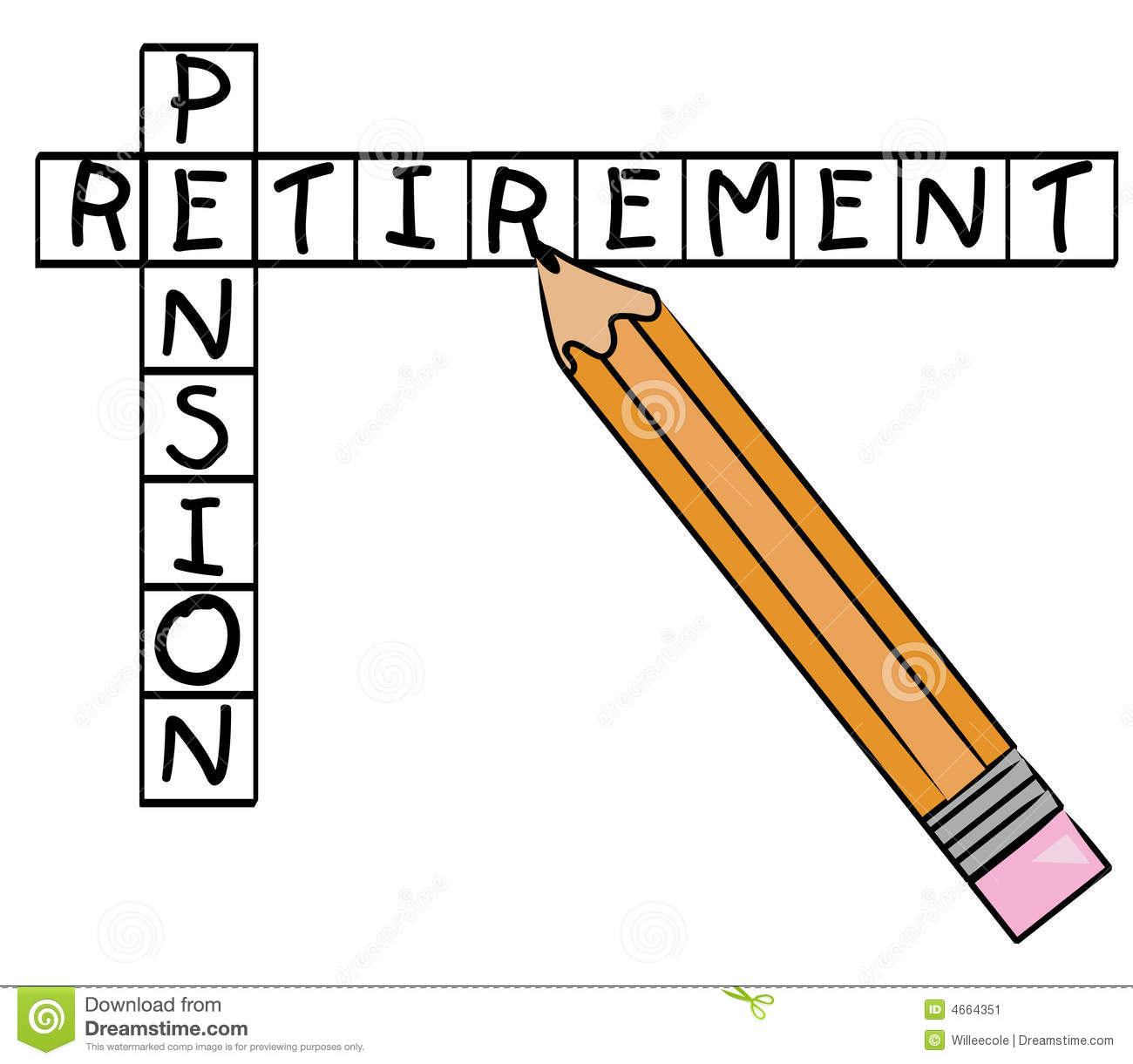 Retirement pension crossword.