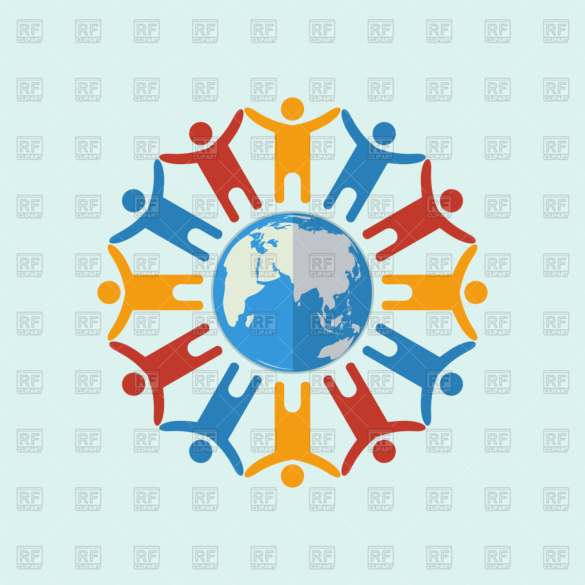 People around the world icon Vector Image #79170.