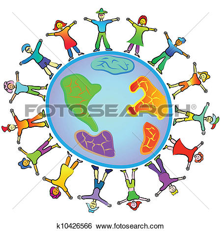 Clip Art of people around the world k10426566.