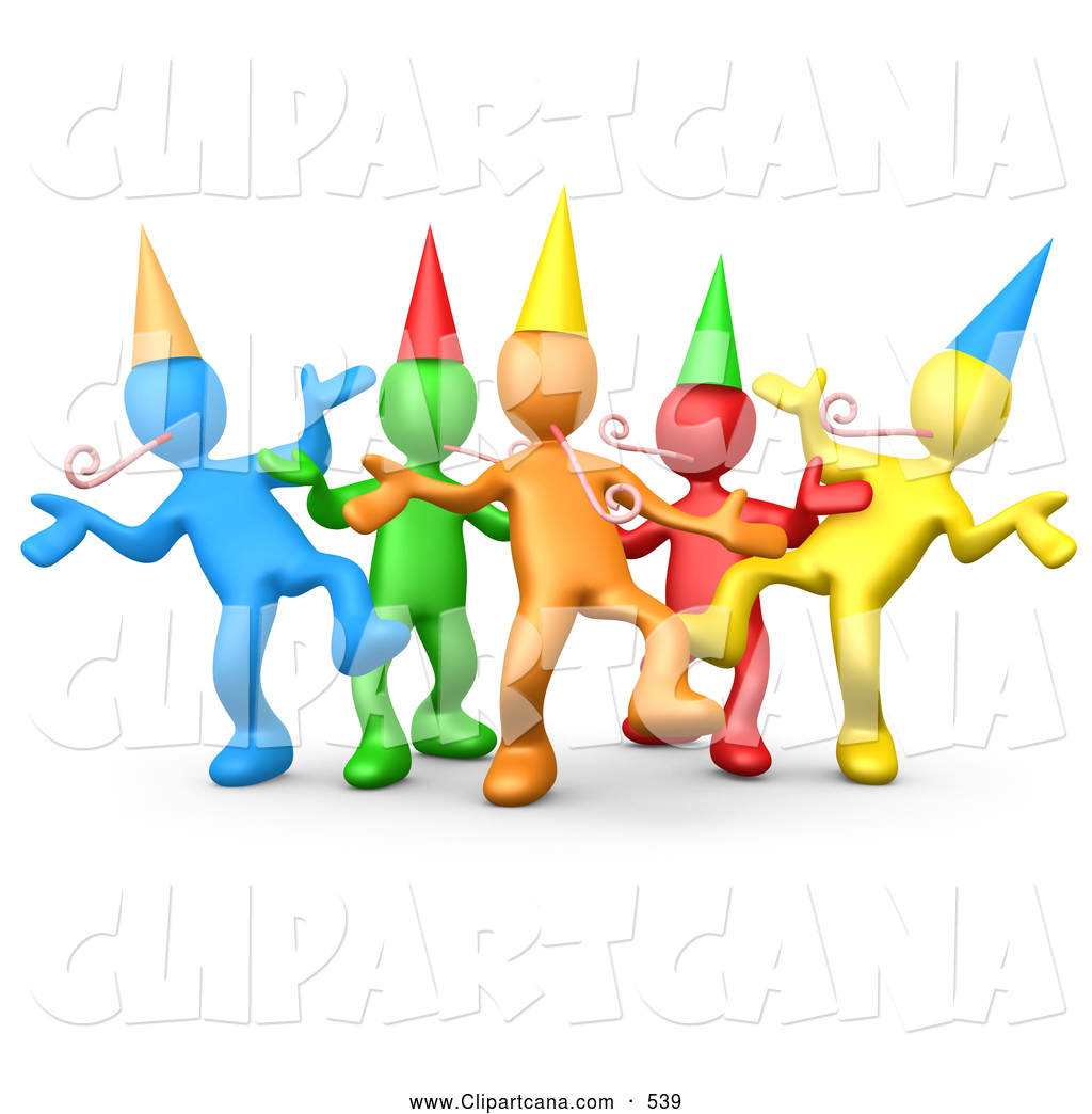 People Celebrating Clipart.