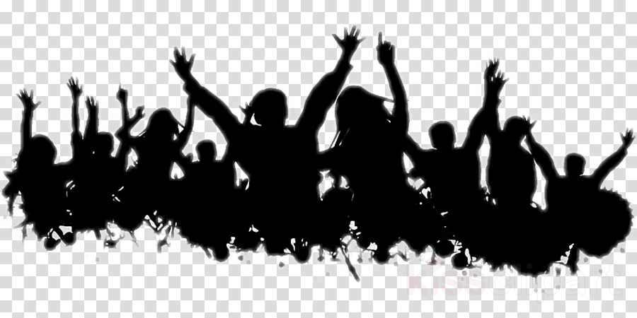 people social group crowd cheering text clipart.
