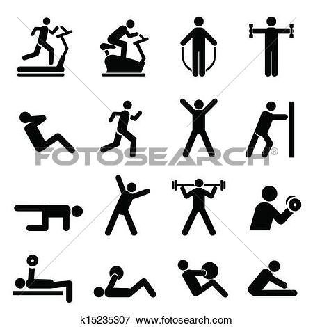 Clipart of Fitnes sport.