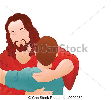Free Clipart Of Jesus Forgiving.