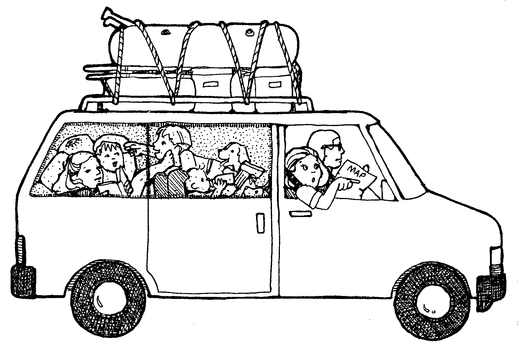 Clipart People Getting Into A Van.