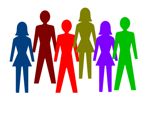 Stick People Group Clipart.