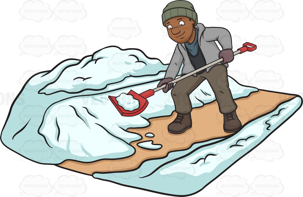 Showing post & media for Cartoon people shoveling snow.