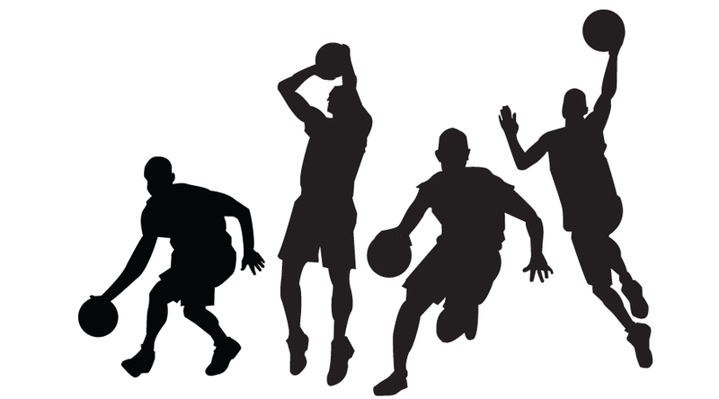 People Playing Basketball Clipart.