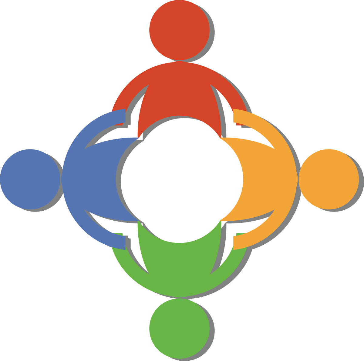 Free Teamwork Clip Art Of A Circle Of Diverse People Holding Hands.